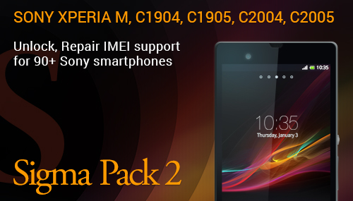 Unlock / Repair IMEI / Wrong Code Counter Reset / Root for Sony C1904, C1905, C2004, C2005,  Xperia M, Xperia M Dual, Nicki SS, Nicki DS