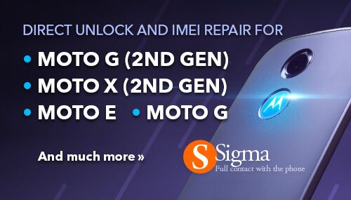 Direct unlock and Repair IMEI for MOTO G 2nd gen, MOTO X 2nd gen and MOTO E