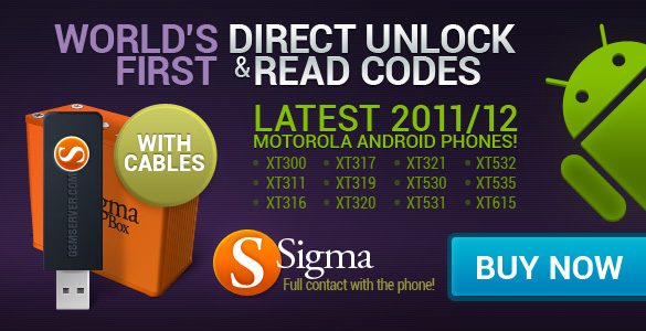 World's First Direct Unlock and Read Unlock Codes for Motorola