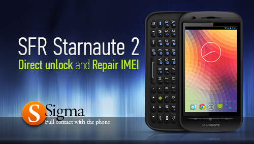 Direct Unlock and Repair IMEI for Sfr Starnaute 2, STARNAUTE II, ZTE V6600