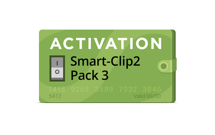 Pack 3 activation for Smart-Clip2
