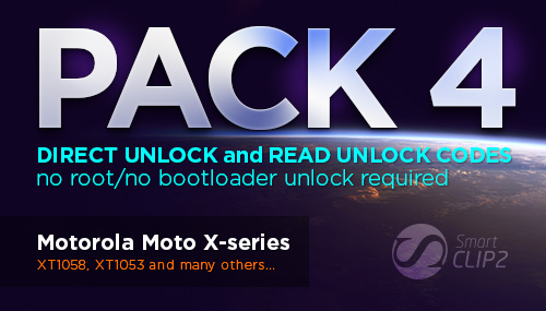 Smart-Clip2 Pack 4 Update: Direct Unlock / Read Unlock Codes for Motorola MotoX