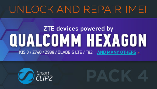 Smart-Clip2 Unlock and IMEI Repair for ZTE Open C, ZTE Z730 (Concord II)