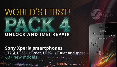 Smart-Clip2: Unlock and Repair IMEI for SONY smartphones